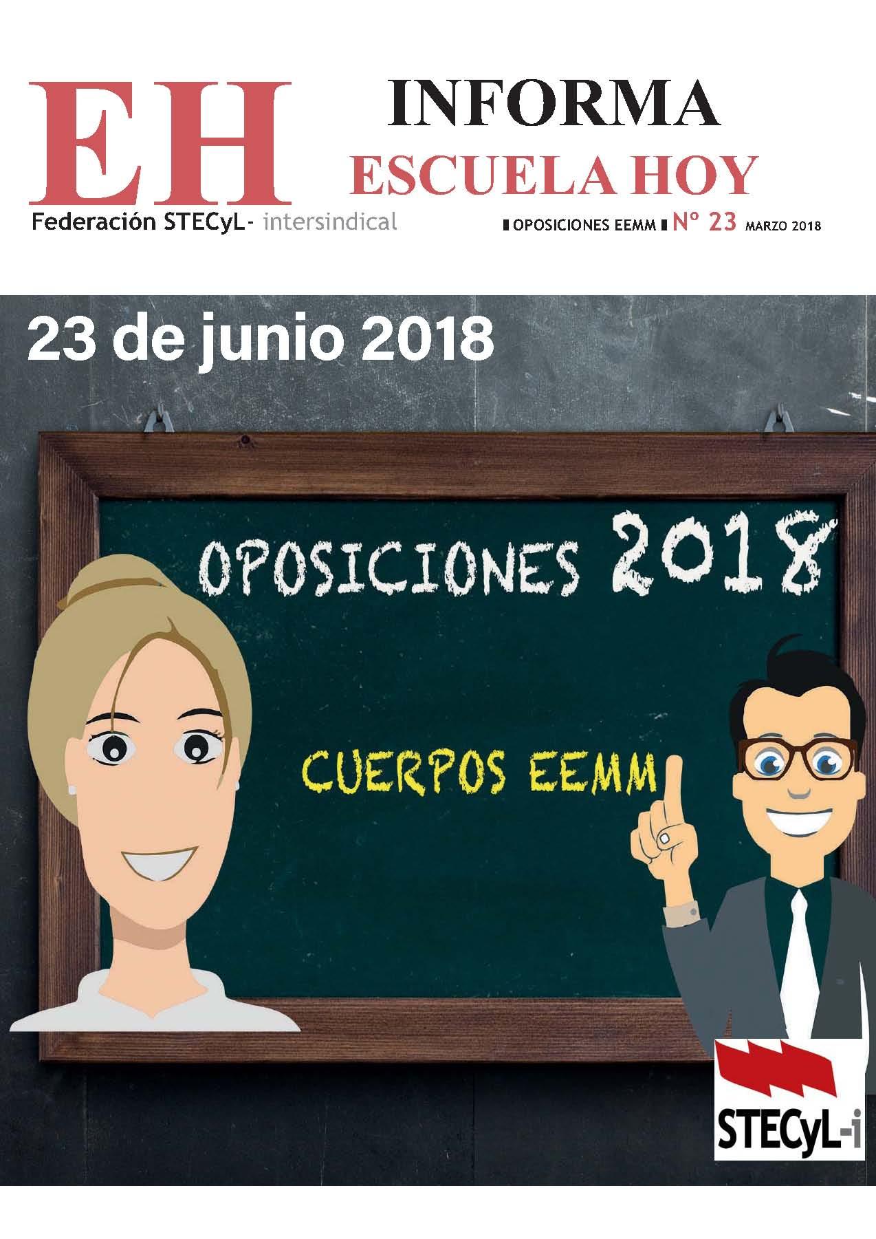 EH. Informa Oposiciones 2018