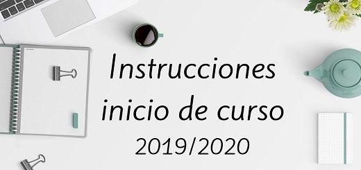 Instrucciones Inicio curso 19-20