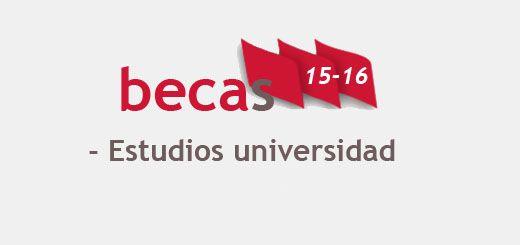 becas15-16 estudios universitarios