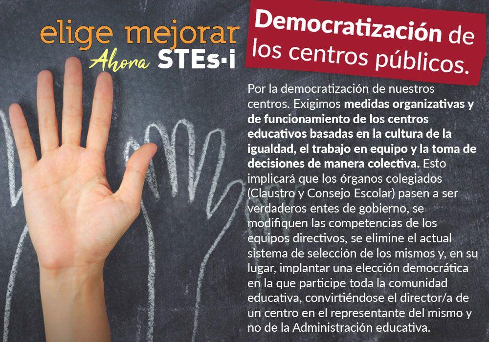Por la democratización de nuestros centros