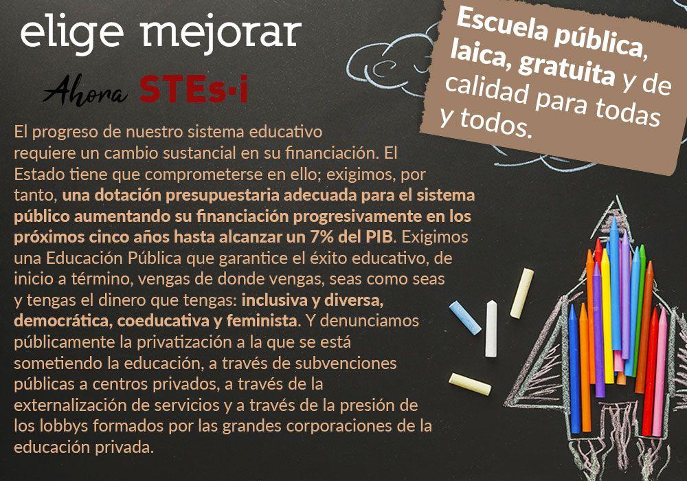 Por una escuela inclusiva, pública, gratuita, laica