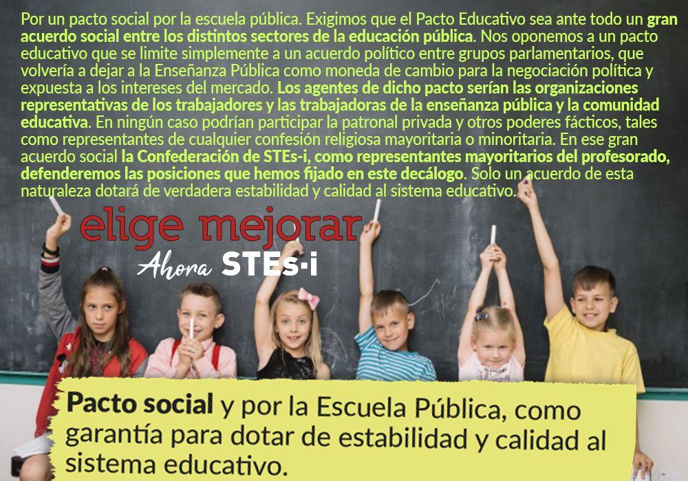Por un pacto educativo social