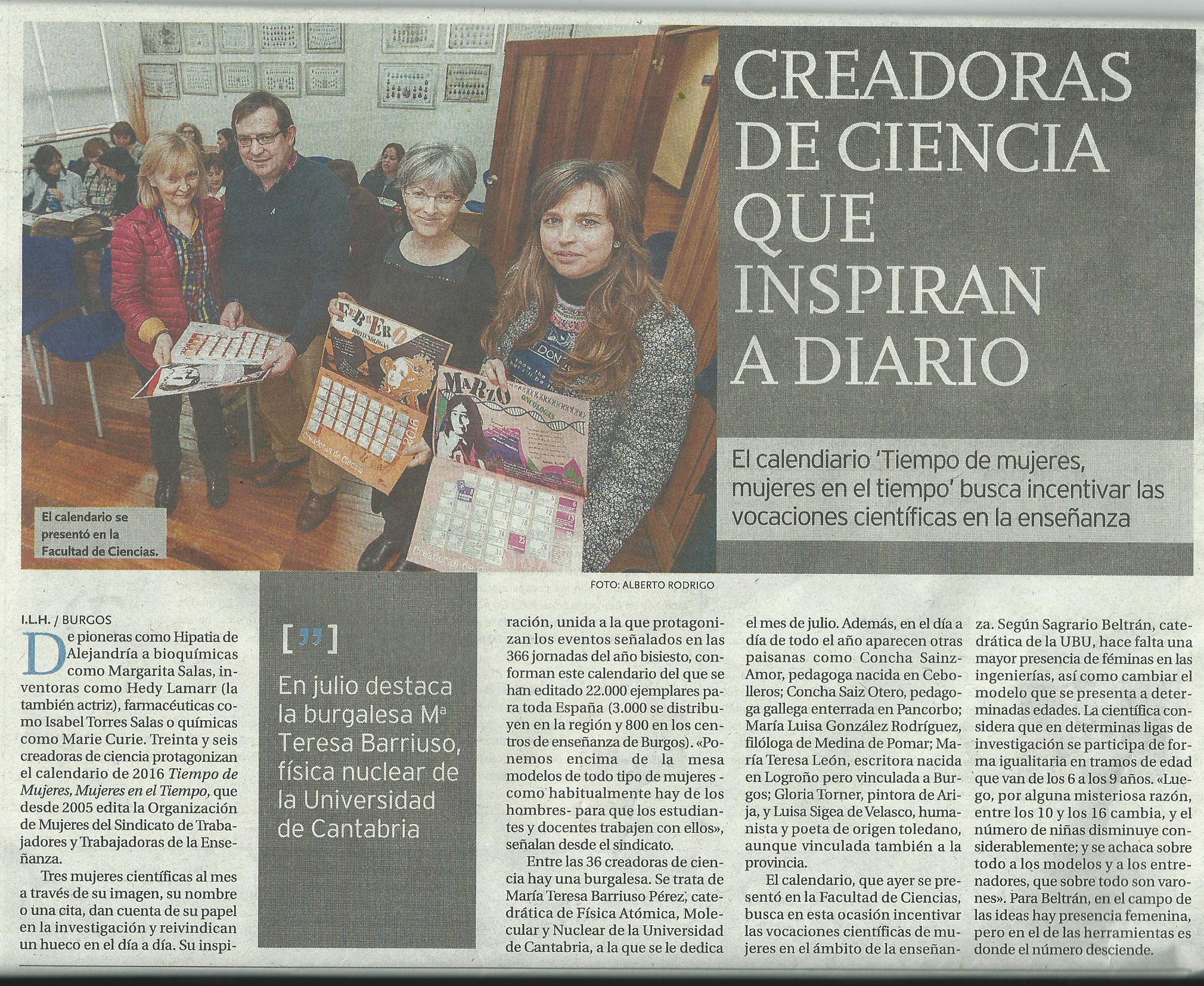 Calendario 2016. Miranda de Ebro