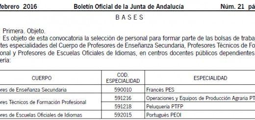 Bolsa Trabajo Andalucía
