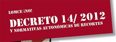 Derogación Decreto 14/2012