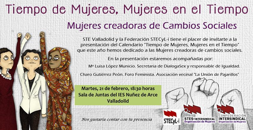 Invitación presentación calendario Valladolid