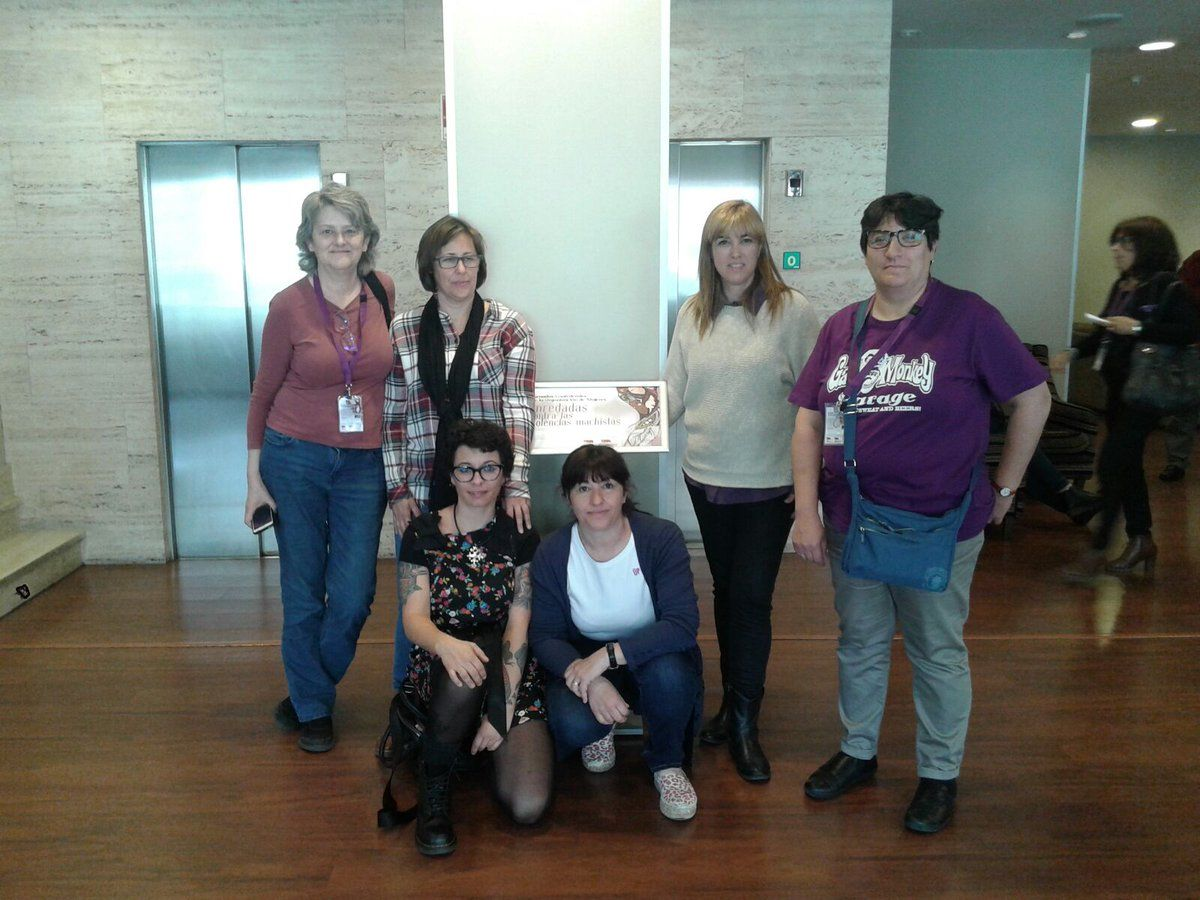 Mujeres del Sindicato Ferroviarioa Intersindical participaron en las Jornadas que la Organización de Mujeres de la Confederación Intersindical celebró en León: #OMenredadas contra las violencias machistas