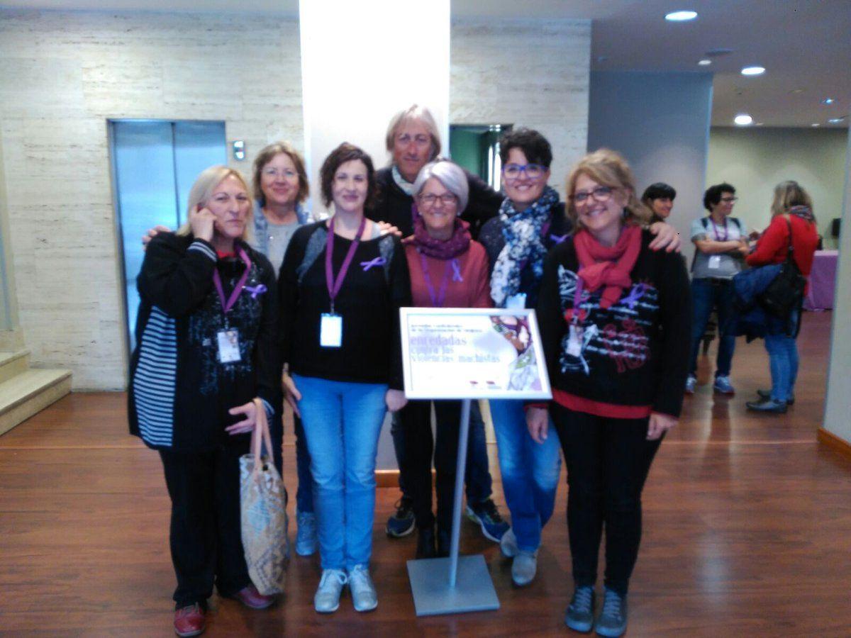 Delegació de STEI Intersindical a les jornades de Dones de la @ConfeIntersindi . A Lleó. Enllaçades contra les violències masclistes.