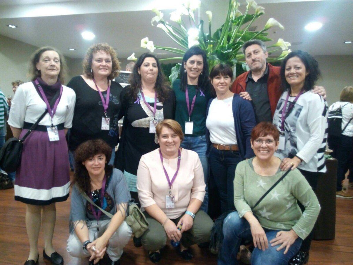 """Delegación de @SindicatoSTECyL en las Jornadas """"Enredadas contra las violencias machistas""""de de la @OrgMujeresCI"""