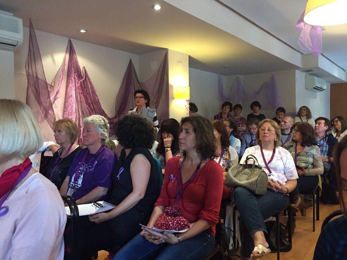 Debate tras la ponencia de Rosa Cobo Bedía #OMenredadas @mujeresconh @ConfeIntersindi @juanitaluneando @MaiteLucerga @MujeresEnHuelga