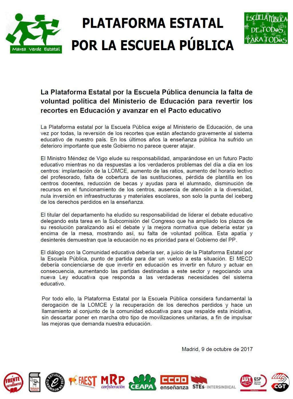 17-10-09-Comunicado-Plataforma-Escuela-Publica