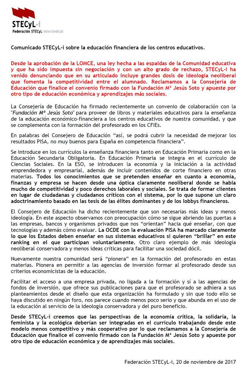 171120-Comunicado-STECyL-Educacion-Financiera