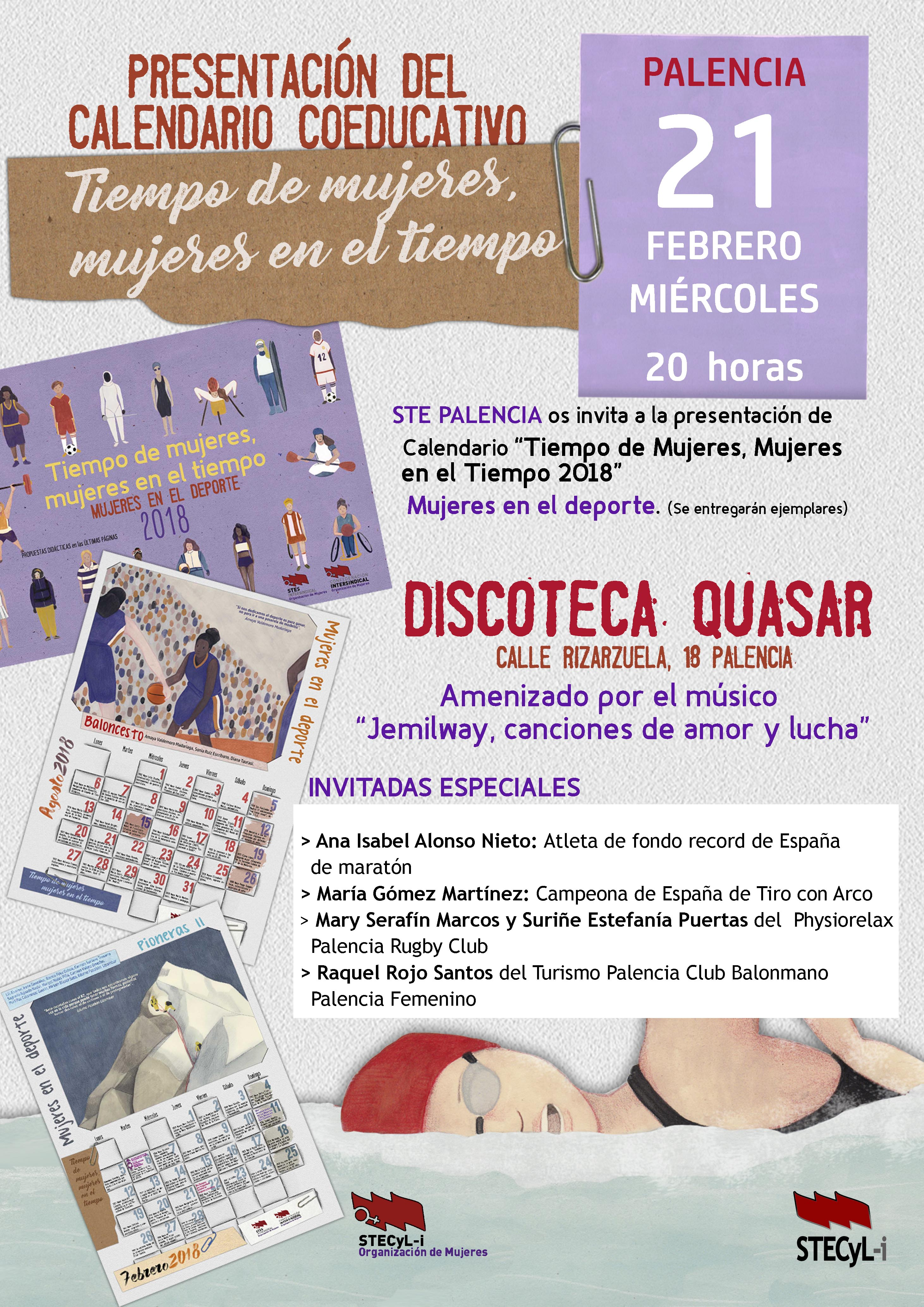 Calendario-tiempo-mujeres-2018-Palencia