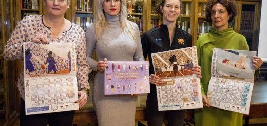 Presentación del calendario Mujeres en el tiempo, dedicado a deportistas. F. Otero Perandones.