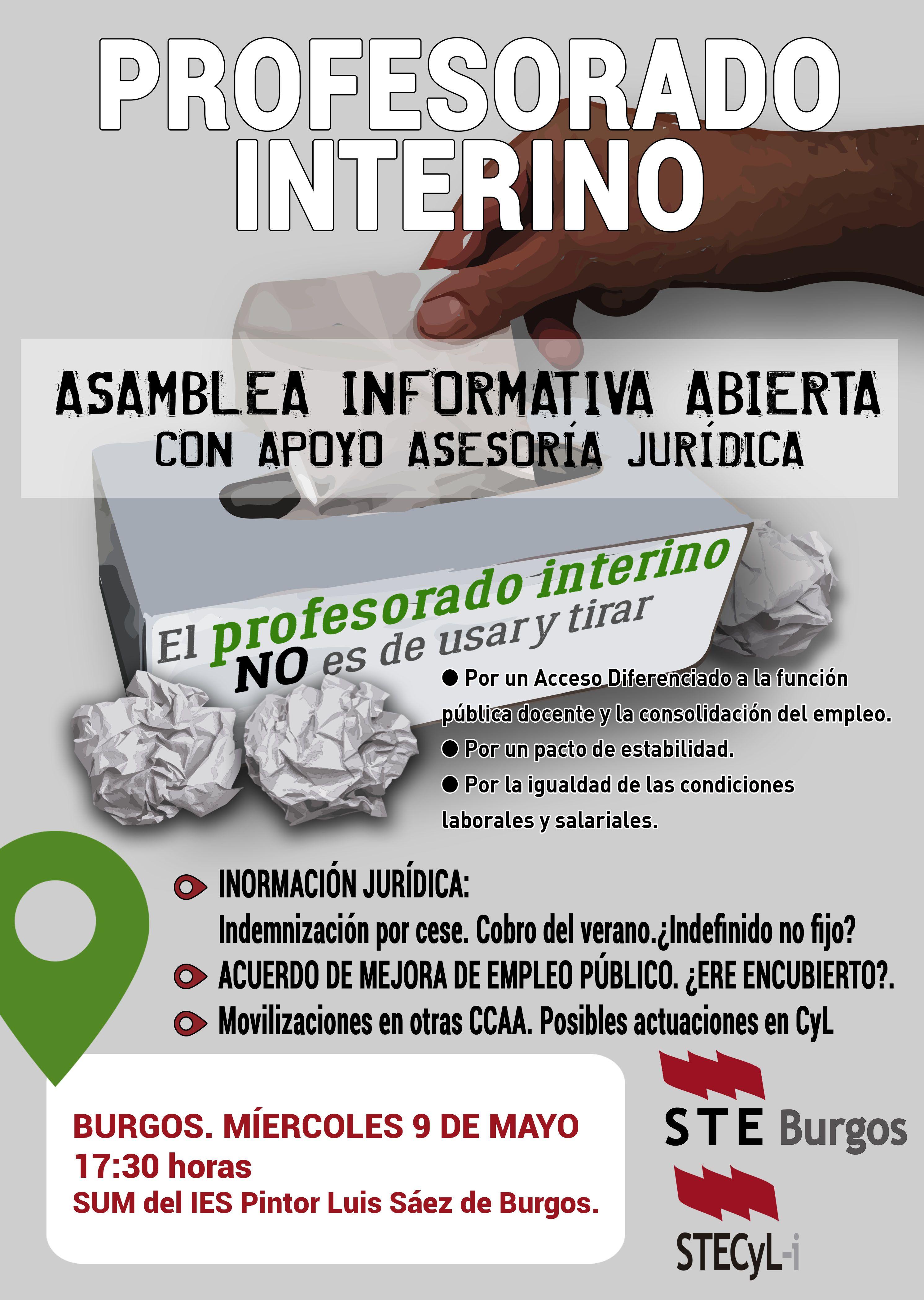 Cartel_ProfInterino_ASAM INFORMATIVA- BURGOS