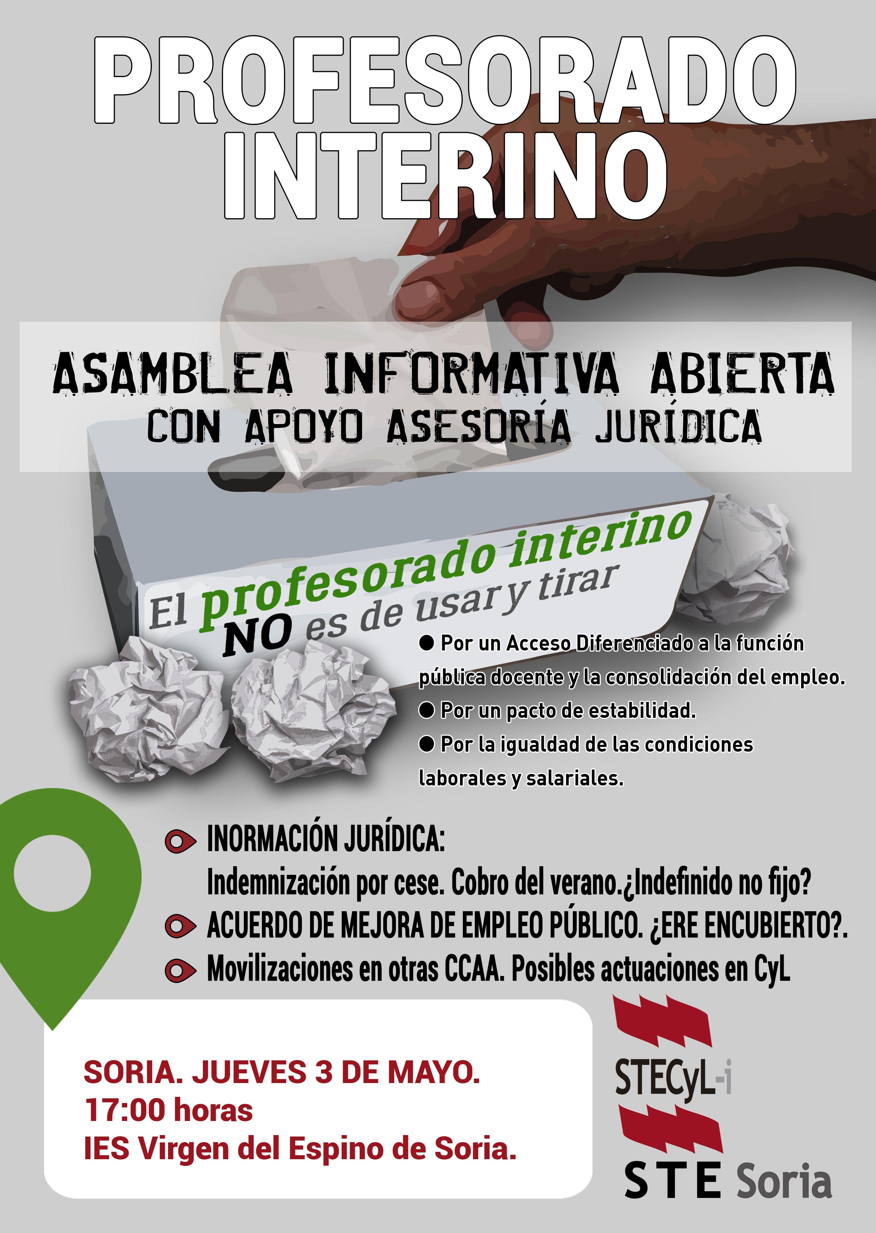 Cartel_ProfInterino_ASAM INFORMATIVA- SORIA