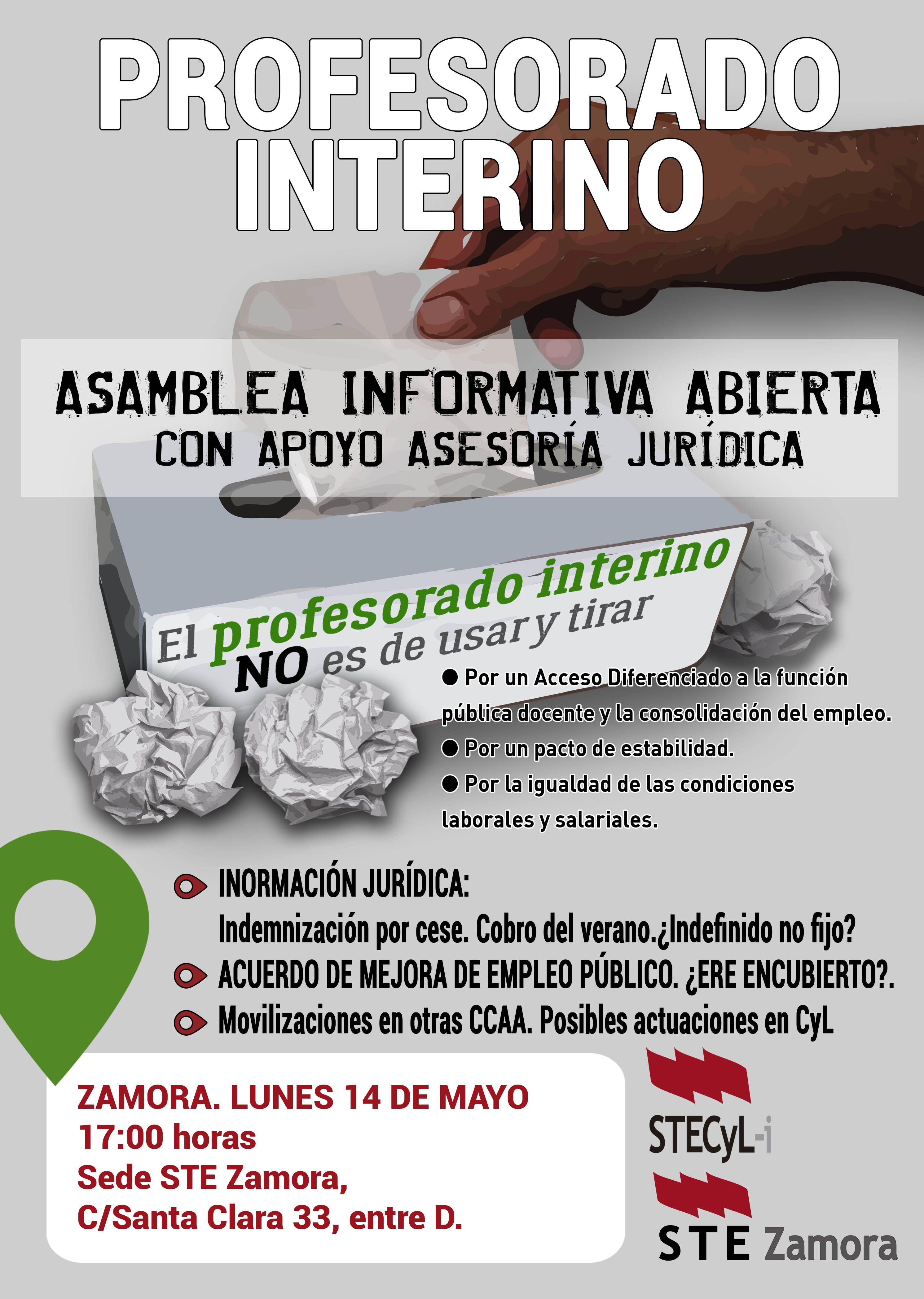 Cartel_ProfInterino_ASAM INFORMATIVA ZAMORA