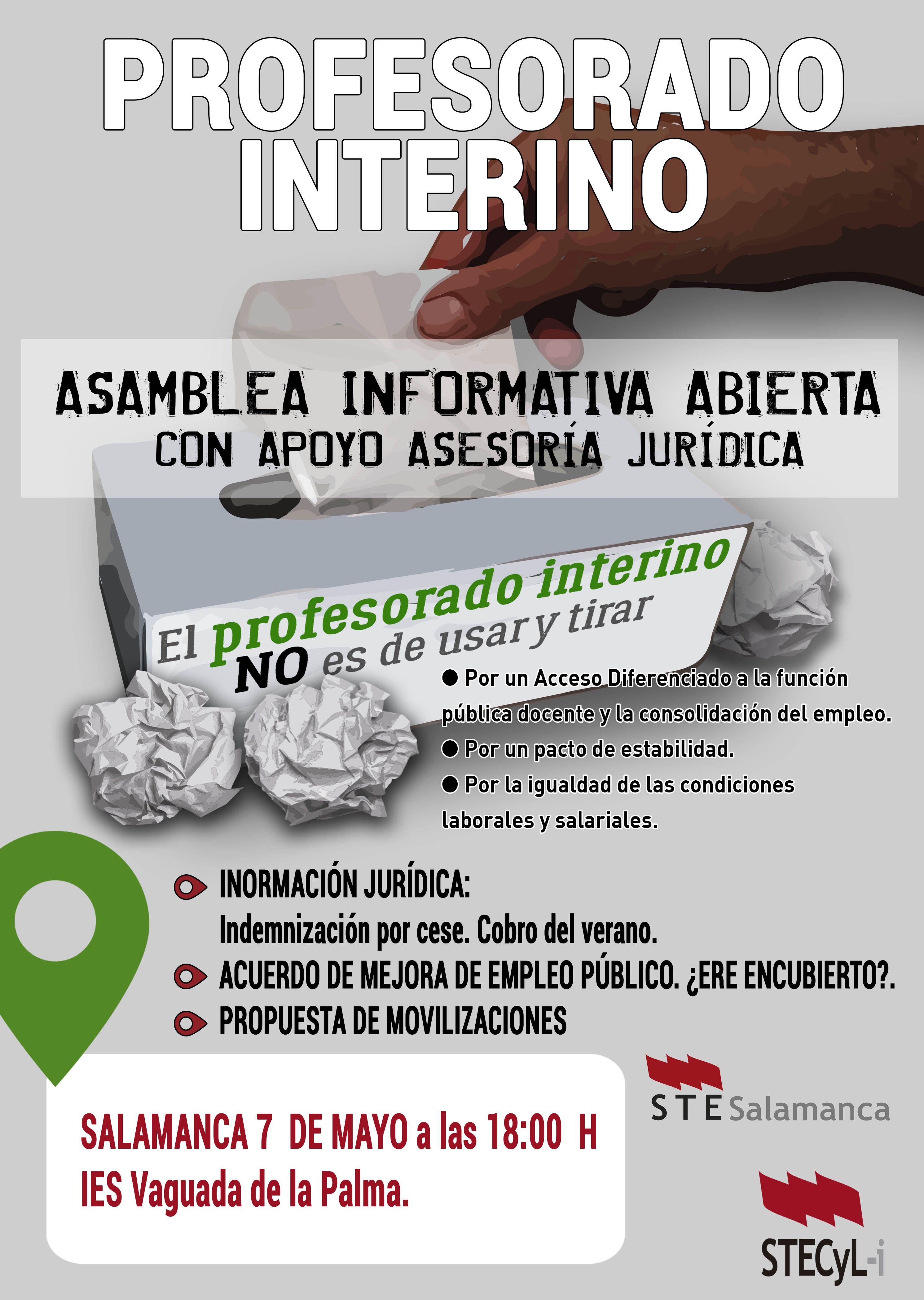 Cartel_ProfInterino_ASAMBLEA SALAMANCA