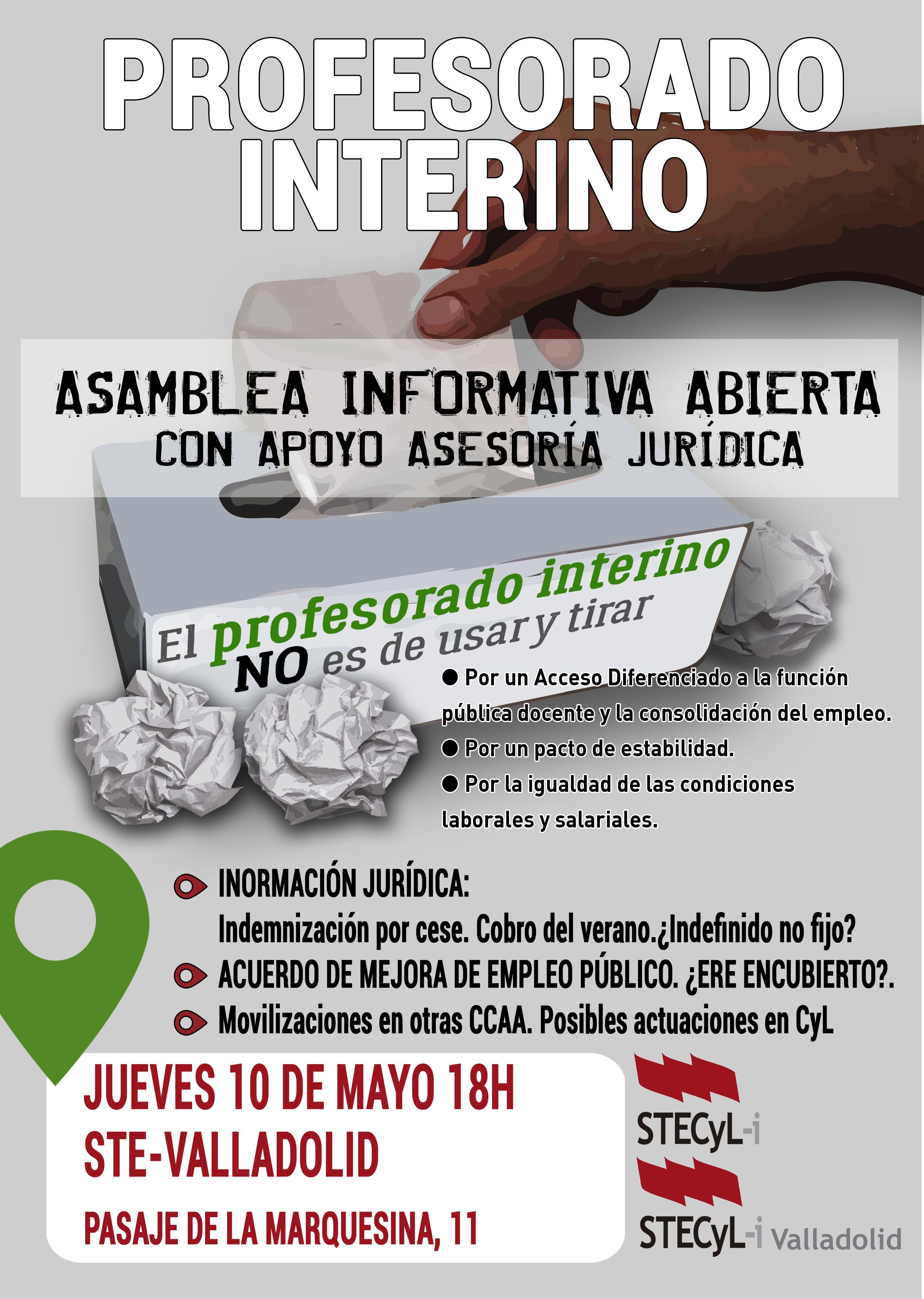 Cartel_ProfInterino_ASMABLEA INFORMATIVA VA