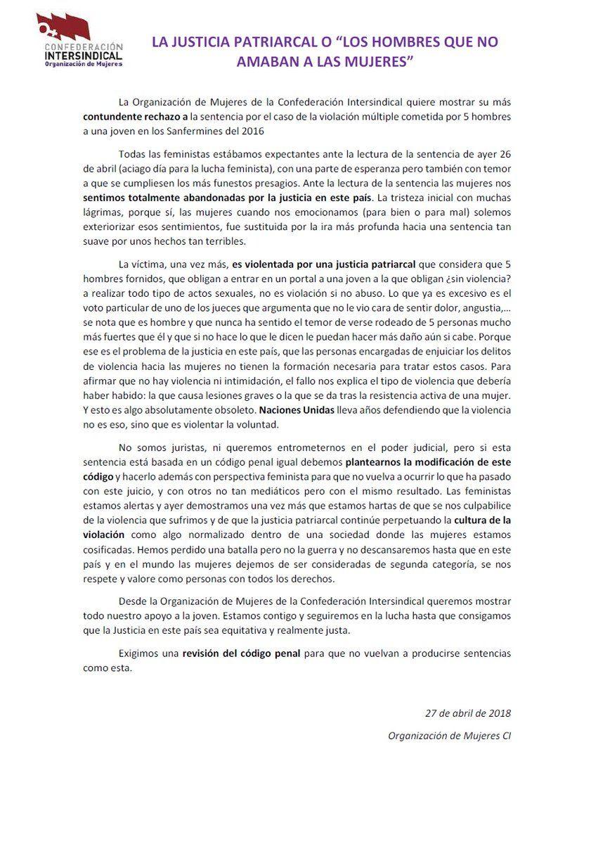 Comunicado-Org-Mujeres-Rechazao-Sentencia-Manada