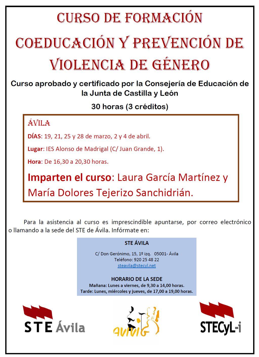 Curso-Coeducacion_Violencia-Genero-AV-Cartel