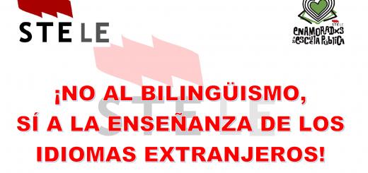 Bilingüismo no, enseñanza de los idiomas extranjeros sí