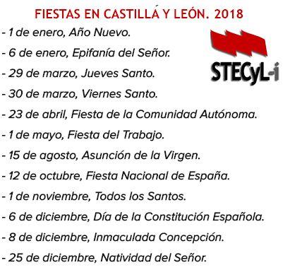 Fiestas-laborales-cyl-2018