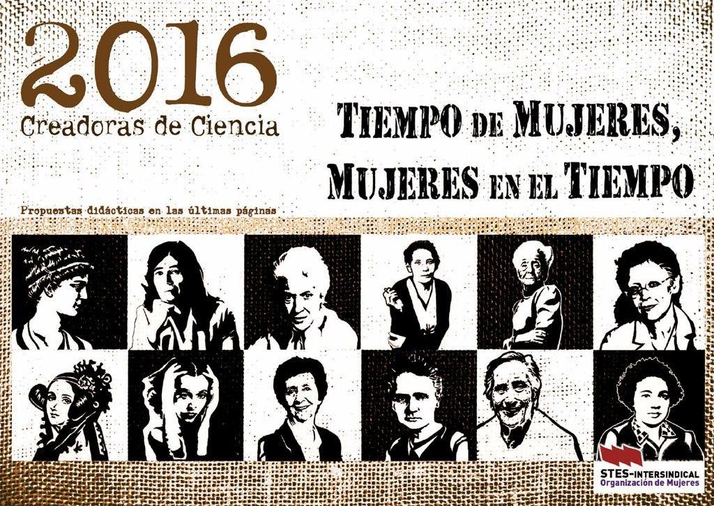 """Calendario """"Tiempo de Mujeres, Mujeres en el Tiempo 2016"""""""