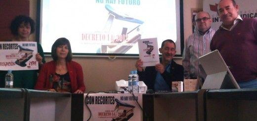 Rueda Prensa Madrid. Con Recortes No Hay Futuro