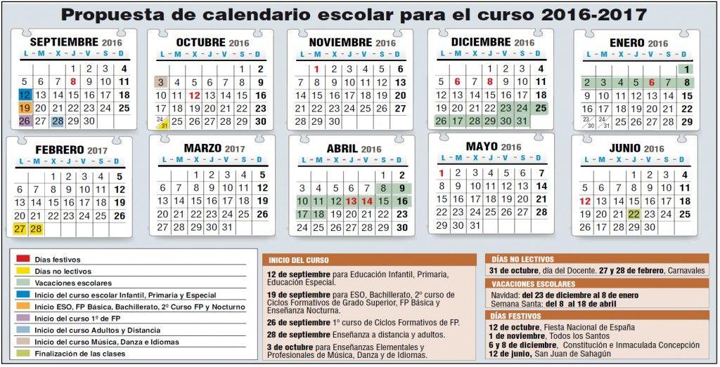 Borrador Calendario Escolar 2016 2017 Stecyl I