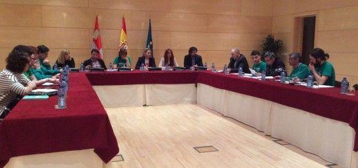 Plataforma y Foro por la Escuela Pública con los partidos políticos en las Cortes de Castilla y León