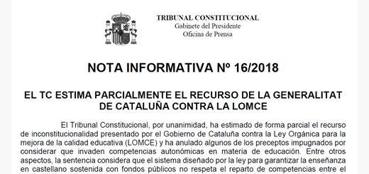 Recurso-LOMCE-Cataluna-Tribunal-Constitucional
