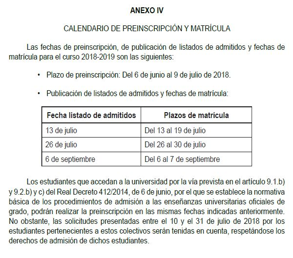 EBAU2018-Calendario-Preinscripcion-matricula
