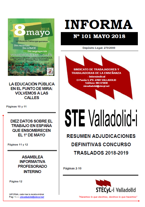 Informa mayo 2018