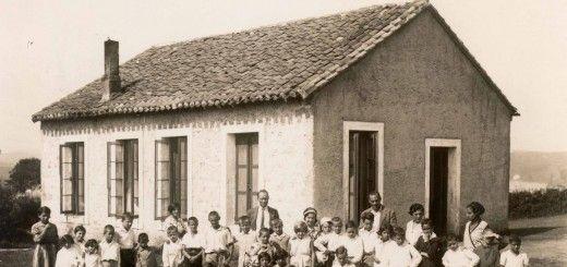 La colonia de la Institución Libre de Enseñanza en San Vicente de la Barquera en agosto de 1930.