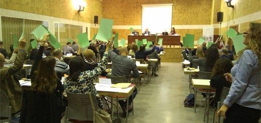 Votación en un Pleno del Consejo Escolar de Castilla y León