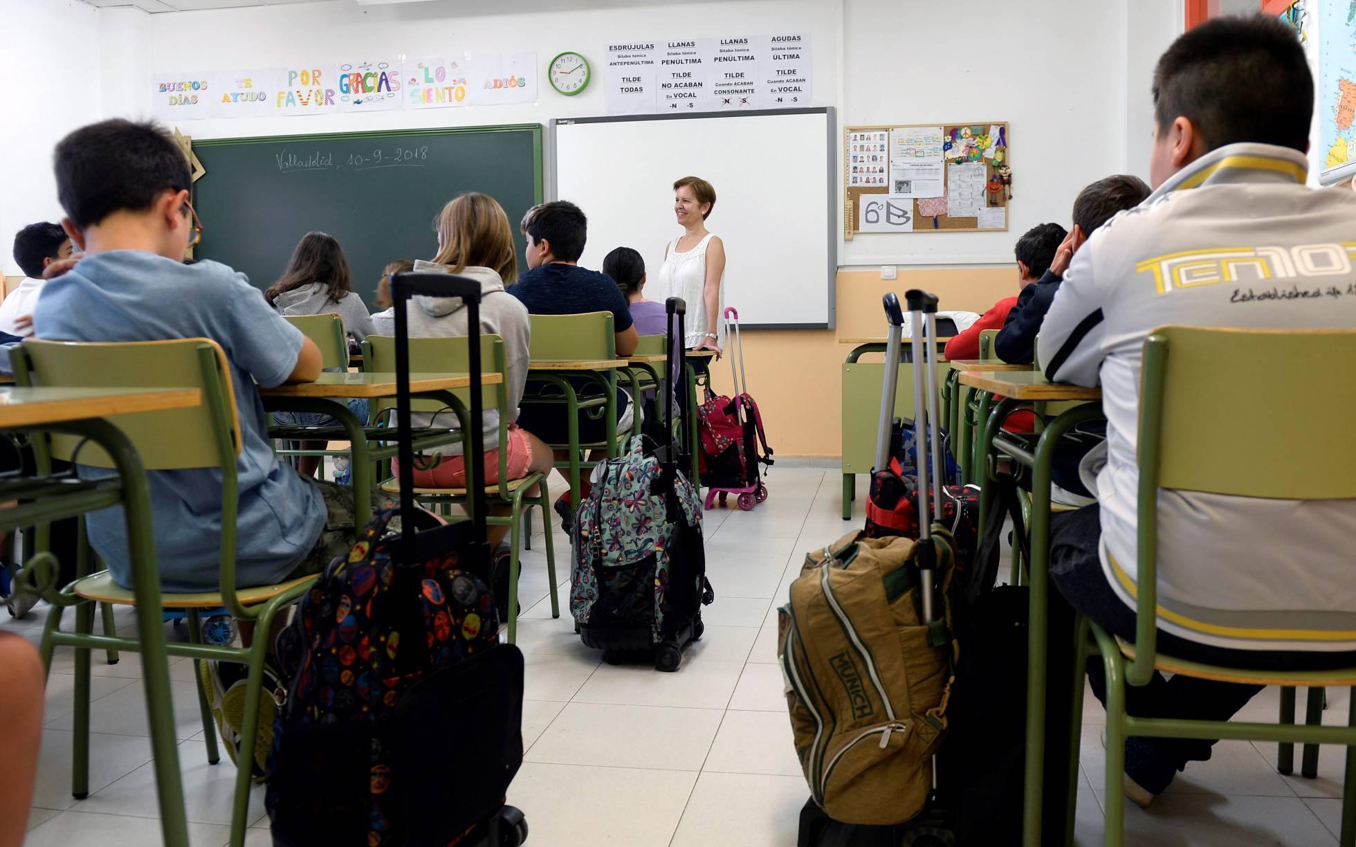 Alumnos de un centro público de Castilla y León. NACHO GALLEGO EFE