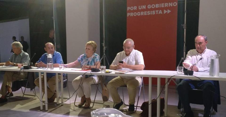 Reunión de STEs con el PSOE