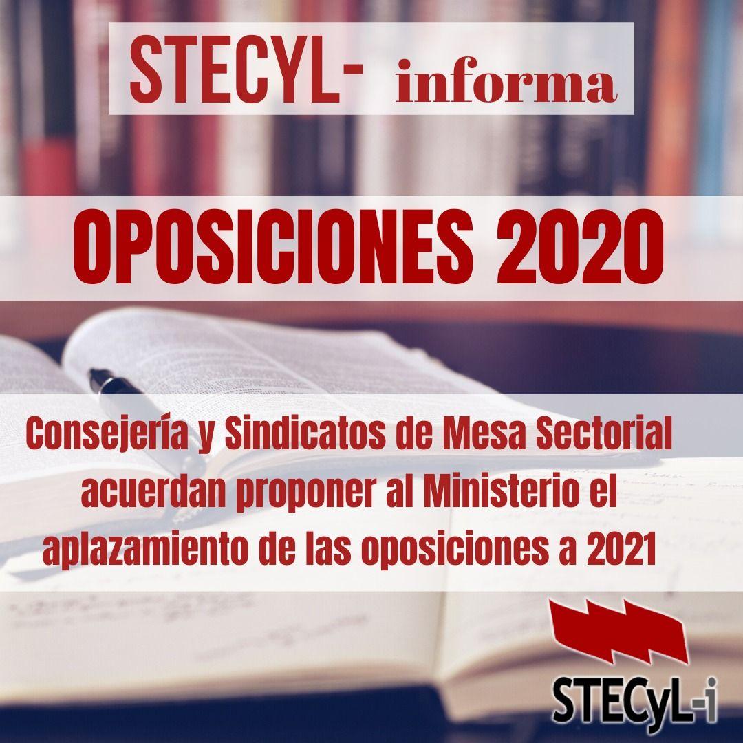 Aplazamiento Oposiciones 2020