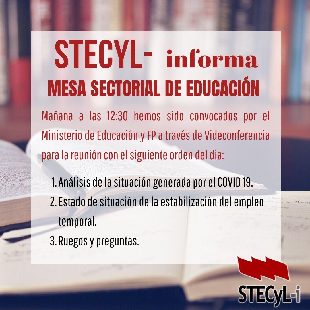 Mesa Sectorial Educación