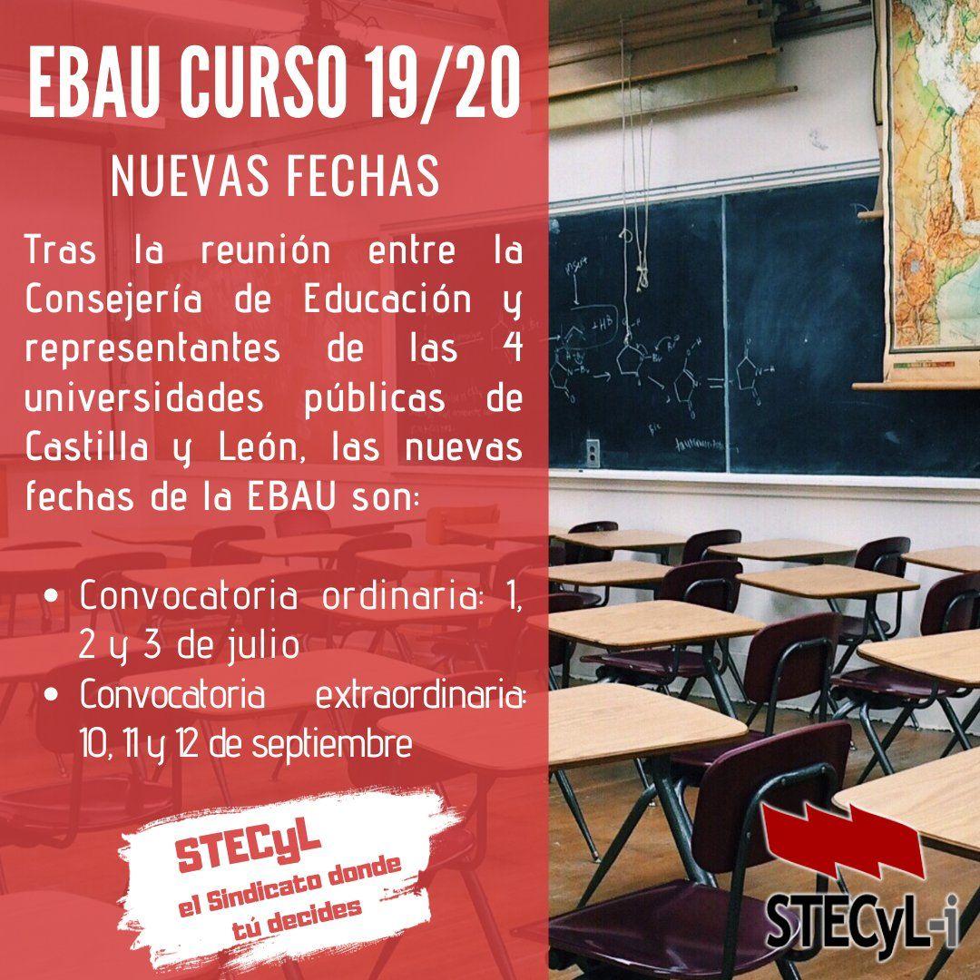 Fechas-EBAU-CyL-2020