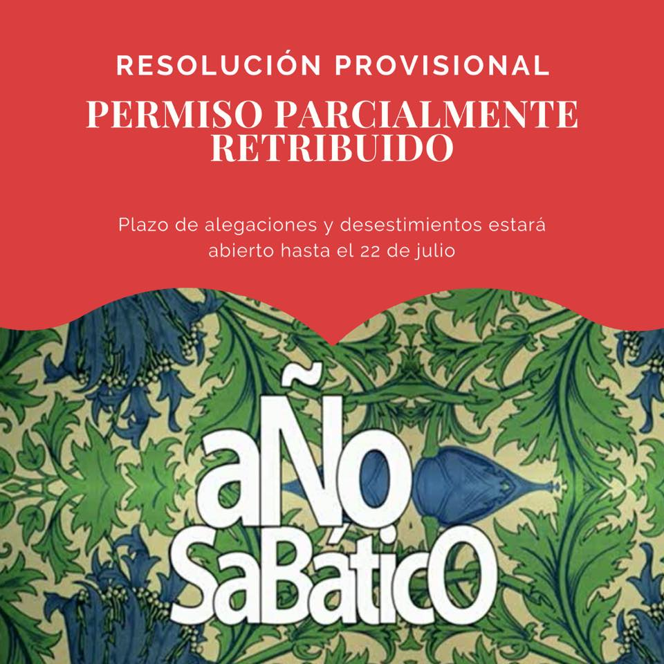 Resolución Provisional Año Sabático 2020