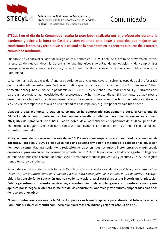 2021_04_23-Comunicado-STECyL