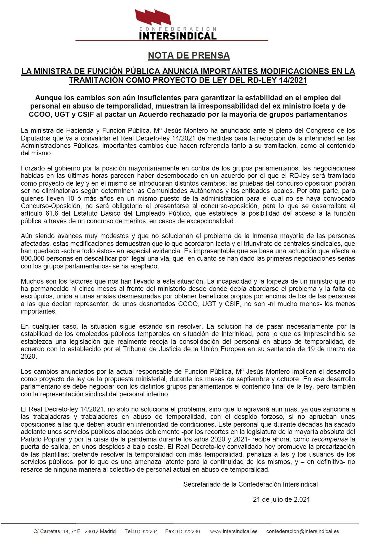 Nota de Prensa 21 julio RD-LEY-14-2021