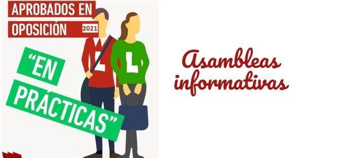 Asambleas informativas Aprobados Oposición EEMM2021 en PRÁCTICAS