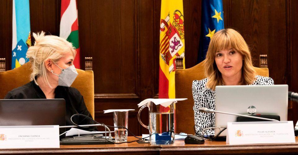 ministra de Educación y Formación Profesional, Pilar Alegría